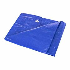 Waterproof Lightweight Blue Multipurpose Poly Tarp - Woven Polyethylene