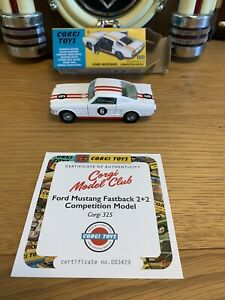 Corgi Toys Ford Mustang Fastback 2+2 Competition Model Mint