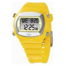 NEW ADIDAS UNISEX CANDY YELLOW PLASTIC RESIN BAND+SILVER DIGITAL WATCH-ADH1566