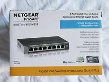 NetGear ProSAFE (GS108E) 8-Ports Desktop Ethernet Switch