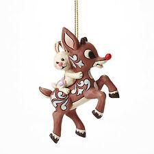 Enesco Jim Shore Rudolph Traditions Rudolph Carrying Bunny H/O Nib 4047945