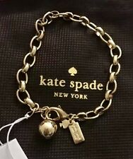 NWT Kate Spade So Charmed Charm Bracelet 12K Gold Plated MSRP $38