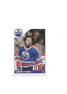 Grant Fuhr Oilers NHL GOAL 1985-86 O-Pee-Chee Ice Hockey Card 207 Single Origina