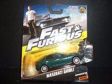 Hot Wheels Maserati Ghibli Green Fast and Furious 1/55
