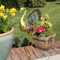 Solar Power Outdoor LED Peacock Light Up Path Decoration Garden Novelty Animal