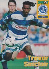 TREVOR SINCLAIR SIGNED ACTION PHOTO ~ QUEENS PARK RANGERS / WEST HAM