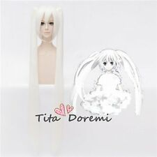 Halloween Wig Cosplay VOCALOID miku white long clips style fashion Hair