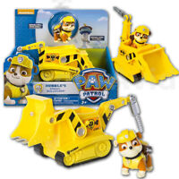 New Paw Patrol Rubble & bulldozer Pup &Vehicle Figure Spin Master