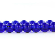 40 Glass Beads in Midnight Blue - 8mm - 1 Strand - Bd720