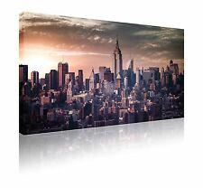 "GRANDE 20"" x 30"" Skyline di New York a Muro ARTE Immagine GRATIS P&P"