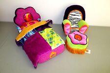 Groovy Girls Flower Power Bed Comforter Arm Chair Ottoman Stool  Lot C1