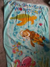 BUILD A BEAR WORKSHOP TOWEL, PICTURE ALL ABOUT THE OCEAN UNDER SEA.IN ACCEPTABLE