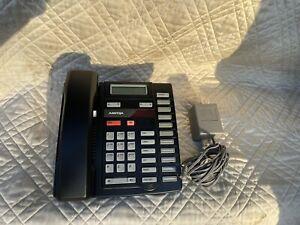 Nortel M9316CW Analog Phone w Lit Pack but No Power Black Warranty Refurbished