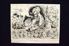 Il Tabacco Incisione del 1869