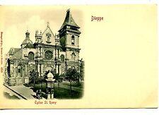 Eglise St. Remy-Catholic Church Building-Dieppe-France-Vintage Postcard