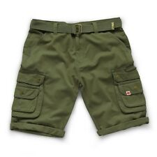 Scruffs Shorts - Mens Cargo Shorts - Khaki Green / Navy Work Combat Trade Short