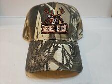 """Rebel Redneck """"Rebel Buck"""" Deer Hunting Camo Camouflage Ball Cap Hat"""