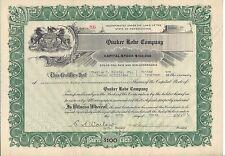 QUAKER ROBE COMPANY.....1923 STOCK CERTIFICATE