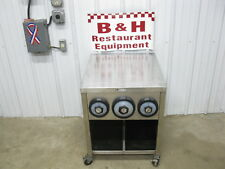 "John Boos 24"" Stainless Slushie Pop Soda Machine Table Cabinet w/ Cup Holders 2'"