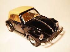 Volkswagen VW Käfer Beetle Cabriolet convertible schwarz black, Polistil 1:25!