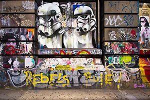 painting A0 POSTER  ANDY BAKER STREET STAR WARS  ART GRAFFITI
