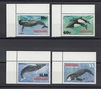 TIMBRE STAMP  4 GRENADINES GRENADE Y&T#472-75 BALEINE WHALE NEUF**/MNH-MINT ~A40