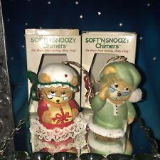 Set of 2 Vintage Jasco Soft'N Snoozy Chimers 2-3/4� Tall