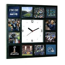Seattle Seahawks Super Bowl 12th man Russell Wilson Richard Sherman Clock