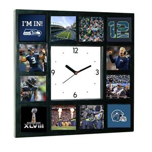 Seattle Seahawks Super Bowl 12th man Russell Wilson Richard Sherman Clock