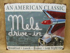 Mel's Diner Tin Metal Sign Decor 60's Food Restaurant NEW