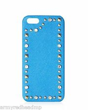Juicy Couture Leather Jeweled Turquoise Saffiano iPhone 5 Hard Shell Case NWT