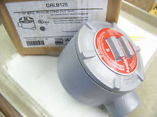 """Appleton GRLB125 1-1/4"""" Mall Iron GR Conduit Outlet Box explosion / dust proof"""