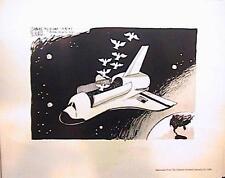 "NASA  8 X 10"" PHOTO LITHOGRAPH ""SPACE SHUTTLE"" ORLANDO SENTINEL JAN 1986 VGC"