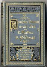 Deutscher Humor neuer Zeit v. Heinrich Ludwig Merkens 1881 Stuber Würzburg