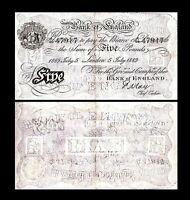 2x 5 Pounds - Ausgabe 1873 - 1893 Britannia - 14 - Reproduktion