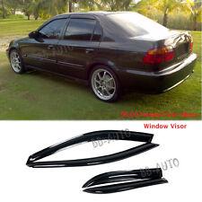 96-00 Honda Civic Window Wind Rain Shield Guard Vent Smoke Deflect Visor 4Dr