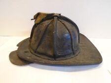Cairns Leather Fire Helmet Vintage 1960s FDNY w Bourkes