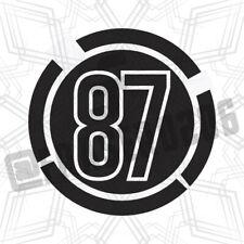 Number Vinyl Decal Sticker Racing Race Car Bike JDM Tuning Trackday Drift