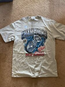 Lee Stanley Cup Champions Detroit Red Wings Shirt L Never Worn New Back To Back