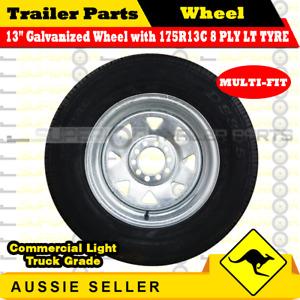 175R13C 8 PLY 13 inch Sunraysia Wheel Galvanized Rim & Tyre (Multi-fit) TRAILER
