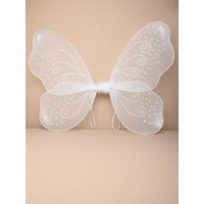 Neuf Blanc Net fée ailes paillettes/Swirl Adultes Enfants Party Hen Do Fancy Dress