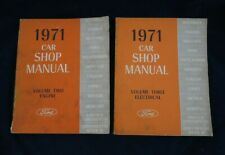 1971 Ford Car Shop Service Manual Vol.2 & 3 Engine Mustang Cougar Lincoln Etc