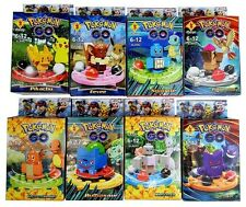 8 sets Mini Poke GO Mayor brand Compatible (Bulbasaur ,Pikachu, Eevee,+more