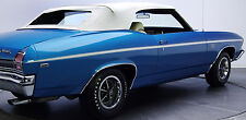 1969 Chevrolet Chevelle SS396 Factory Longitudinal White Tape Stripe Kit NEW USA