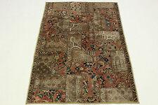 Orient Teppich Vintage Patchwork 200x130 beige Trend Used Look handgeknüpft 834