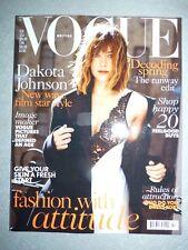 Magazine mode fashion VOGUE UK february 2016 Dakota Johnson