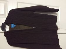 the children's Place Sherpa Fleece Line Zip Up Cardigan Sweater Size L 10/12