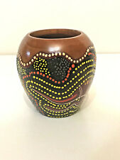 Aboriginal Art Vase - A