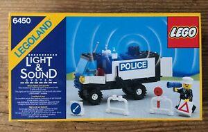 Lego 6450 Camion de police (1985). Boîte vide + notice.