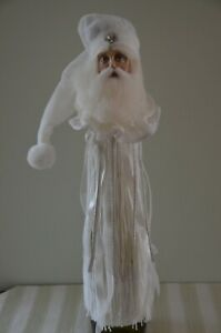 Katherine's Santa Wine Bottle Topper with Tassels and Ribbons